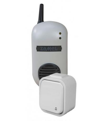 Dzwonek bezprzewodowy BULIK z przyciskiem hermetycznym 150mb