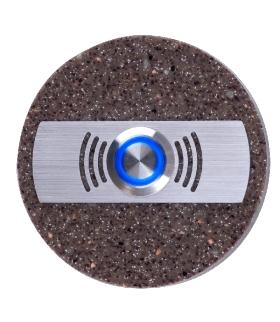 Przycisk dzwonkowy ozdobny okrągły podświetlany
