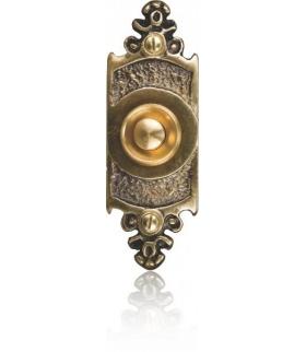 Przycisk dzwonkowy mosiężny z szyldem podłużnym PDM-232