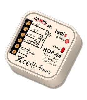 Radiowy odbiornik dopuszkowy 3-kanałowy ROP-04