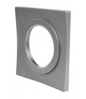 Ramka LED KONEKTO kwadratowa srebrna LSR-SK-X1