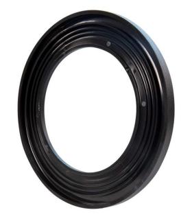 Ramka LED KONEKTO okrągła czarna LSR-CO-X1