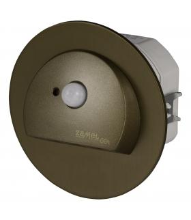 Oprawa LED RUBI PT 230V AC z czujnikiem ruchu STARE ZŁOTO - biała zimna