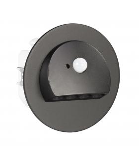 Oprawa LED RUBI PT 230V AC z czujnikiem ruchu CZARNA - biała zimna