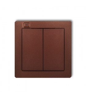 NADAJNIK 2-KLAWISZOWY 4-KANAŁOWY brązowy metalik DO SYSTEMU EXTA FREE Deco Smart