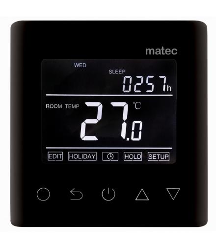 Regulator temperatury + sonda podtynkowy - programowalny WI-FI CZARNY
