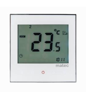 Regulator temperatury dotykowy podtynkowy - programowalny sonda 2,5m BIAŁY