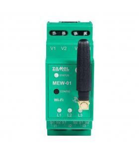 Monitor energii elektrycznej WiFi 1F+N z anteną zewnętrzną MEW-01/ANT-1F