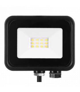 Naświetlacz LED SOLIS 10W 230V IP65 czarny, barwa biała zimna TYP: NAS-10WC